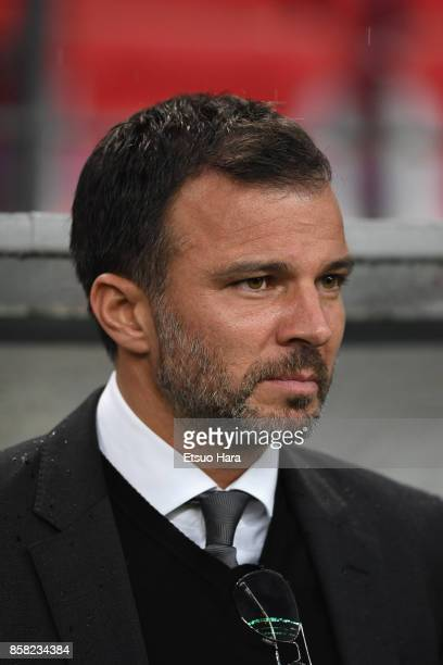 Head coach Anthony Hudson of New Zealand looks on prior to the international friendly match between Japan and New Zealand at Toyota Stadium on...