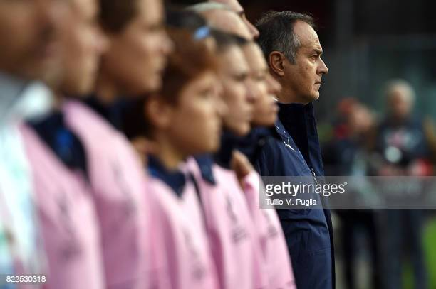 Head coach Antonio Cabrini of Italy looks on during the UEFA Women's Euro 2017 Group B match between Sweden and Italy at Stadion De Vijverberg on...