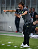 Head coach Antonio Konte of Chelsea reacts the friendly match between WAC RZ Pellets and Chelsea FC at Worthersee Stadion on July 20 2016 in Velden...