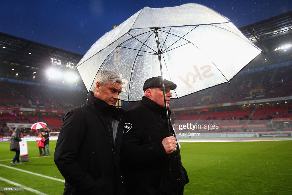 Head coach Armin Veh of Frankfurt looks on prior to the Bundesliga match between 1. FC Koeln and Eintracht Frankfurt at RheinEnergieStadion on February 13, 2016 in Cologne, Germany.