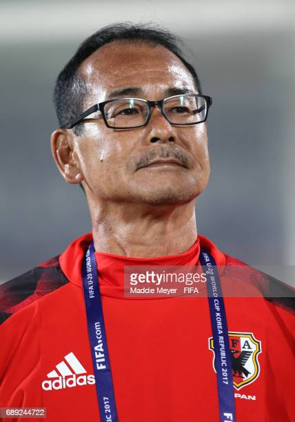 Head coach Atsushi Uchiyama of Japan before the FIFA U20 World Cup Korea Republic 2017 group D match between Japan and Italy at Cheonan Baekseok...