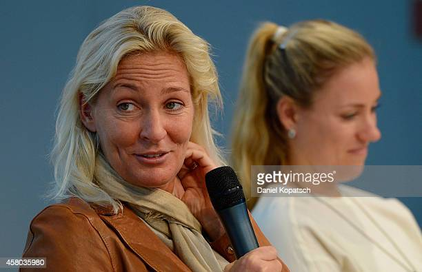 Head coach Barbara Rittner attends a DTB press conference prior to the FedCup Final at Porsche Museum on October 29 2014 in Stuttgart Germany