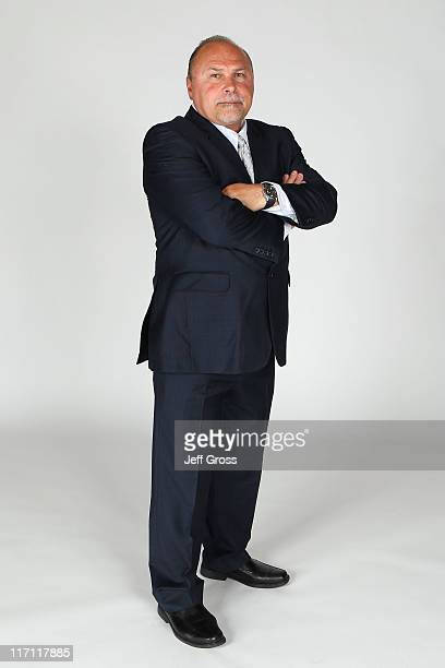 Head coach Barry Trotz of the Nashville Predators poses for a portrait during the 2011 NHL Awards at the Palms Casino Resort June 22 2011 in Las...