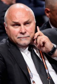 Head coach Barry Trotz of the Washington Capitals attends the 2014 NHL Entry Draft at Wells Fargo Center on June 28 2014 in Philadelphia Pennsylvania
