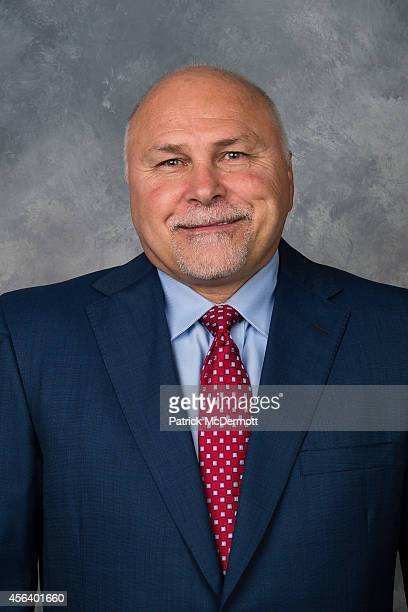 Head Coach Barry Trotz of the Washington Capitals poses for his official headshot for the 20142015 season on September 18 2014 at the Kettler...