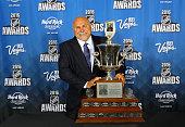 Head coach Barry Trotz of the Washington Capitals speaks after winning the Jack Adams Award for top head coach at the 2016 NHL Awards at the Hard...