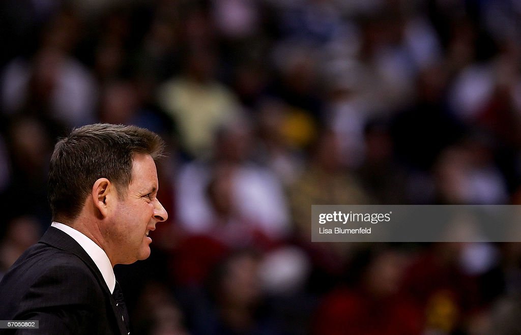 Head coach Ben Braun of the California Golden Bears makes a face during the first half of the game against the USC Trojans in the quarterfinals of...