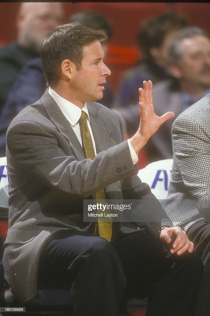 Head coach Ben Braun of the California Golden Bears signals to his players during the Franklin National Bank Classic against the Mississippi State...