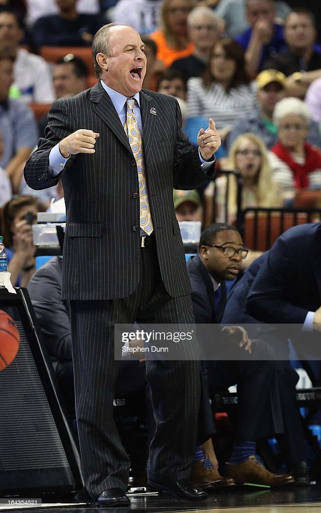 Head coach <a gi-track='captionPersonalityLinkClicked' href=/galleries/search?phrase=Ben+Howland&family=editorial&specificpeople=213373 ng-click='$event.stopPropagation()'>Ben Howland</a> of the UCLA Bruins watches his team play the Minnesota Golden Gophers during the second round of the 2013 NCAA Men's Basketball Tournament at The Frank Erwin Center on March 22, 2013 in Austin, Texas.