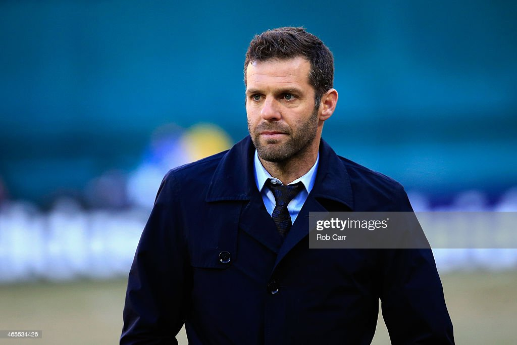Head coach <a gi-track='captionPersonalityLinkClicked' href=/galleries/search?phrase=Ben+Olsen&family=editorial&specificpeople=733816 ng-click='$event.stopPropagation()'>Ben Olsen</a> of D.C. United looks on during the second half against the Montreal Impact during their 1-0 win at RFK Stadium on March 7, 2015 in Washington, DC.