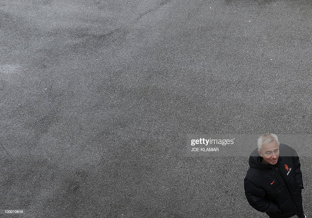 Head coach Bert Van Marwijk is pictured after the Dutch national football team's first practice at their training camp in Tyrolian village in Seefeld on May 20, 2010, prior to the FIFA World cup 2010 in South Africa.
