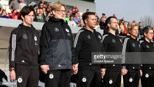 Head coach Bettina Wiegmann of Germany is seen during the International Friendly match between Germany U15 Girls and United States U15 Girls at...