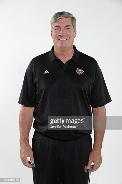 Head Coach Bill Laimbeer of the New York Liberty poses for a portrait during 2014 WNBA Media Day at the MSG Training Facility on May 12 2014 in...