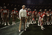Head coach Bill Walsh of the San Francisco 49ers stands on the field during the NFL game against the Atlanta Falcons at 3COM Park on December 191982...