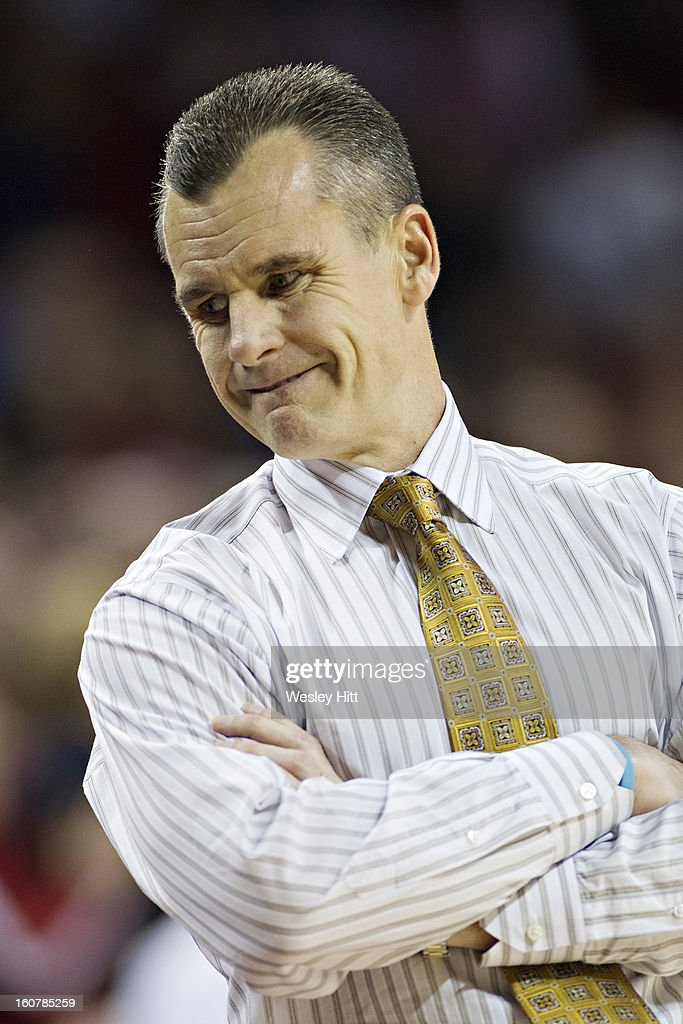 Head Coach <a gi-track='captionPersonalityLinkClicked' href=/galleries/search?phrase=Billy+Donovan&family=editorial&specificpeople=198944 ng-click='$event.stopPropagation()'>Billy Donovan</a> of the Florida Gators looks down his bench during a game against the Arkansas Razorbacks at Bud Walton Arena on February 5, 2013 in Fayetteville, Arkansas. The Razorbacks defeated the Gators 80-69.