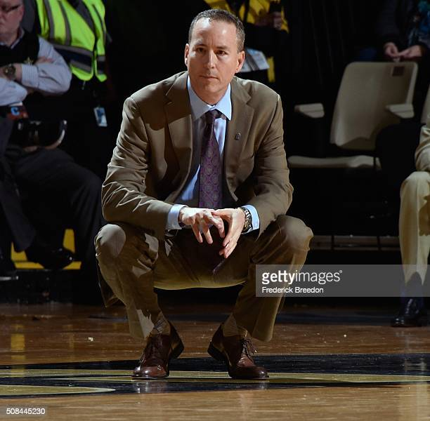 Head coach Billy Kennedy of the Texas AM Aggies watches during the first half of a game against the Vanderbilt Commodores at Memorial Gym on February...