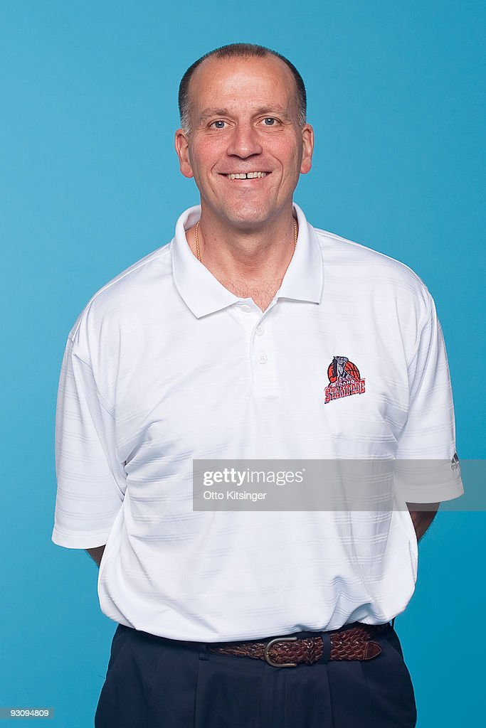 Head Coach Bob MacKinnon of the Idaho Stampede poses for a portrait during the team's 200910 Media Day on November 16 2009 at the Boys and Girls Club...