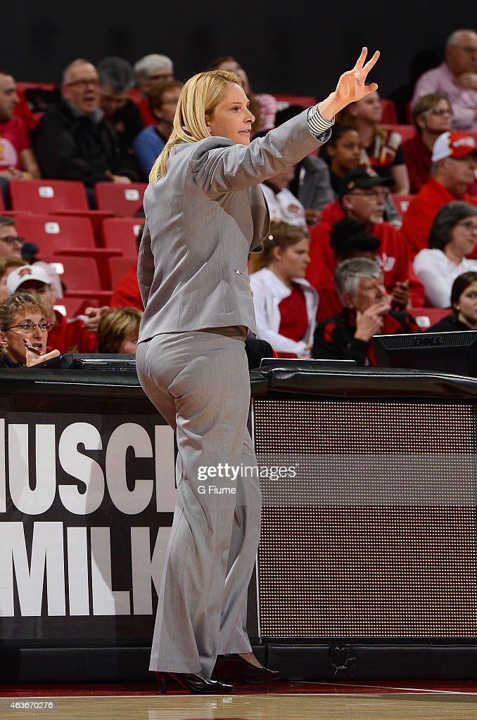 Head coach <a gi-track='captionPersonalityLinkClicked' href=/galleries/search?phrase=Brenda+Frese&family=editorial&specificpeople=700545 ng-click='$event.stopPropagation()'>Brenda Frese</a> watches the game against the Illinois Fighting Illini at the Xfinity Center on January 18, 2015 in College Park, Maryland.