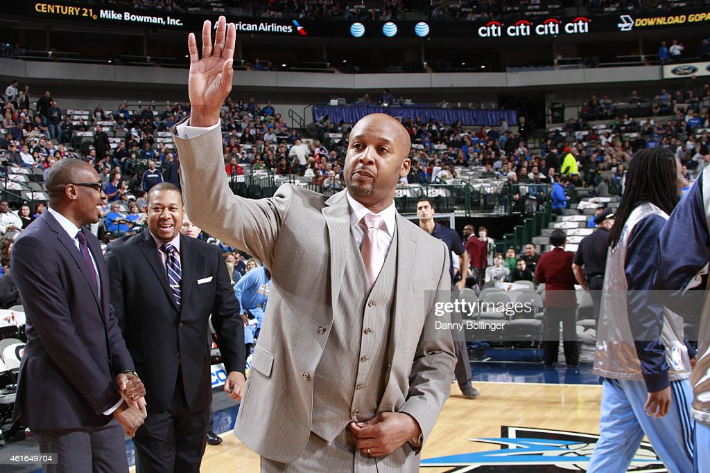 Head coach Brian Shaw of the Denver Nuggets before the game against the Dallas Mavericks on January 16 2015 at the American Airlines Center in Dallas...