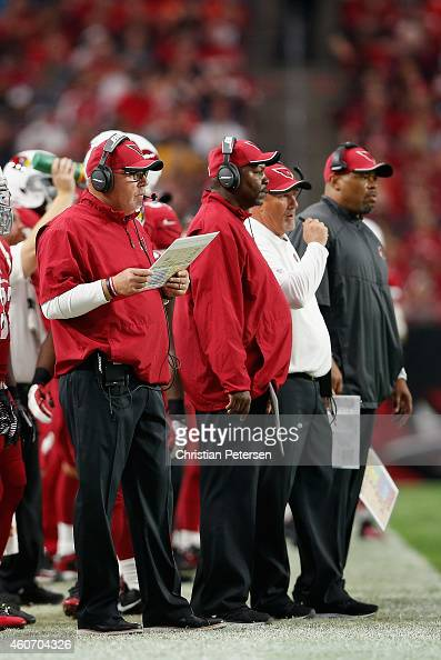 Head coach Bruce Arians defensive coordinator Todd Bowles strength and conditioning coach Buddy Morris and offensive coordinator Harold Goodwin of...