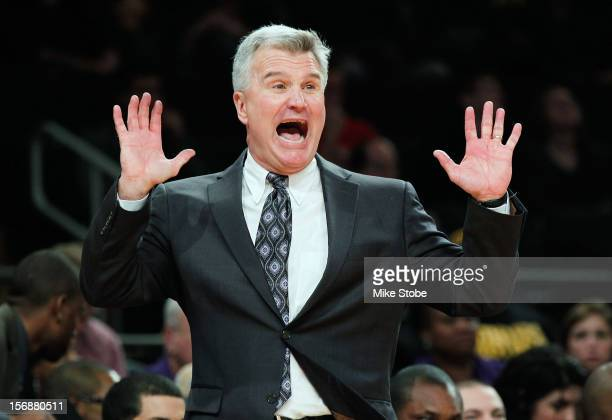 Head Coach Bruce Weber of Kansas State Wildcats reacts during the game against the Michigan Wolverines at Madison Square Garden on November 23 2012...