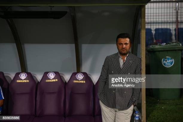 Head coach Bulent Uygun of Osmanlispor looks on during Turkish Super Lig soccer match between Osmanlispor and Galatasaray at the Osmanli Stadium in...