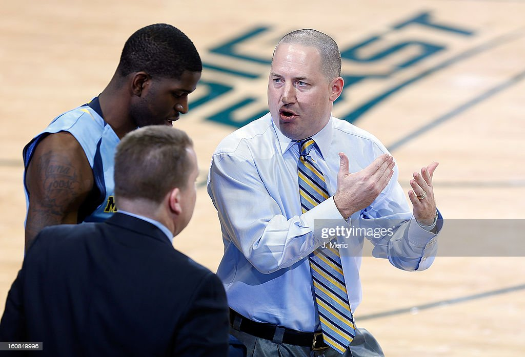 Head coach Buzz Williams of the Marquette Golden Eagles directs his team during the game against the South Florida Bulls at the Sun Dome on February 6, 2013 in Tampa, Florida.