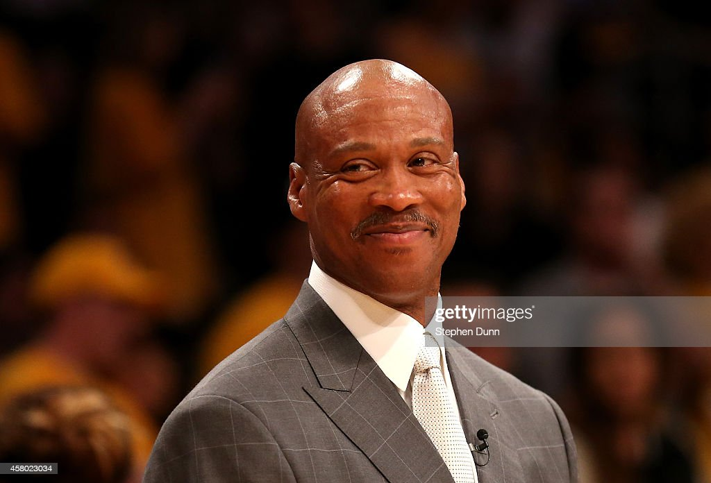 Head coach <a gi-track='captionPersonalityLinkClicked' href=/galleries/search?phrase=Byron+Scott+-+Basketbalcoach&family=editorial&specificpeople=209087 ng-click='$event.stopPropagation()'>Byron Scott</a> of the Los Angeles Lakers smiles before the game against the Houston Rockets at Staples Center on October 28, 2014 in Los Angeles, California. The Rockets won 108-90.