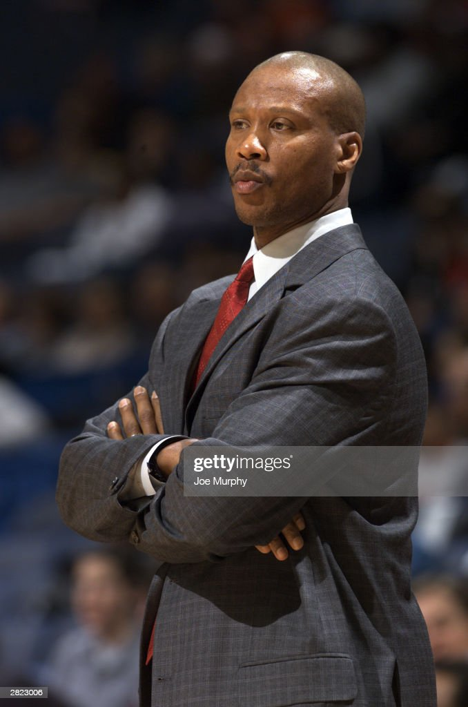 Head coach <a gi-track='captionPersonalityLinkClicked' href=/galleries/search?phrase=Byron+Scott+-+Basketbalcoach&family=editorial&specificpeople=209087 ng-click='$event.stopPropagation()'>Byron Scott</a> of the New Jersey Nets watches the game against the Memphis Grizzlies at The Pyramid on December 13, 2003 in Memphis, Tennessee. The Grizzlies won 110-63. Scott, one year removed from taking New Jersey on a second consecutive trip to the NBA Finals, has been fired today.