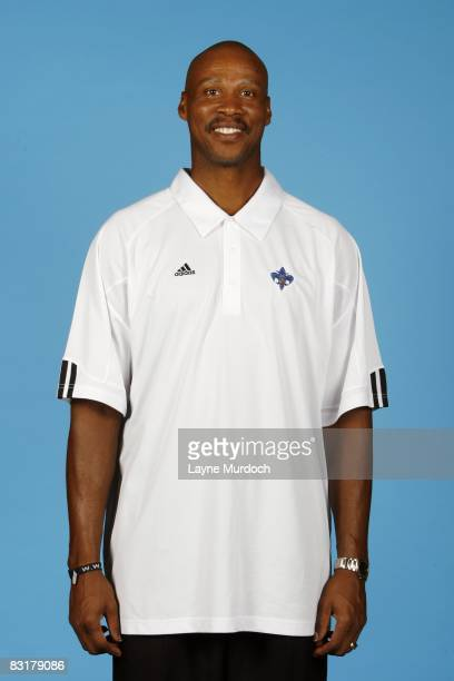 Head coach Byron Scott of the New Orleans Hornets poses for a portrait during NBA Media Day September 26 2008 in the New Orleans Arena in New Orleans...