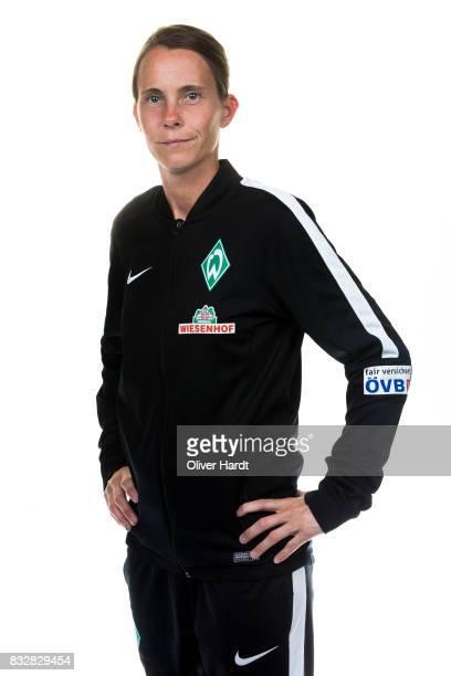 Head coach Carmen Roth of Werder Bremen poses during the Allianz Frauen Bundesliga Club Tour at on August 14 2017 in Bremen Germany