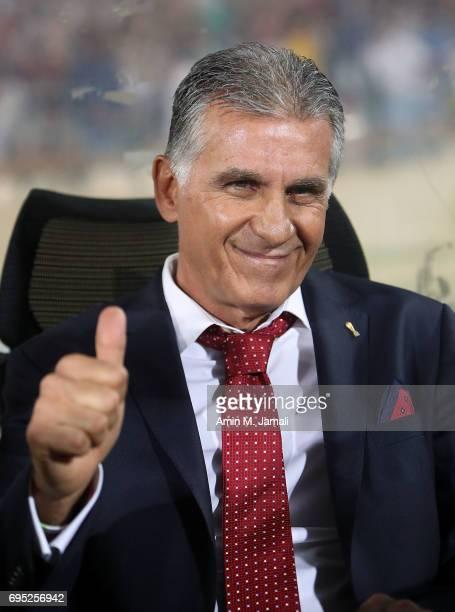 Head coach Carols Quieroz looks on during FIFA 2018 World Cup Qualifier match between Iran and Uzbekistan at Azadi Stadium on June 12 2017 in Tehran...