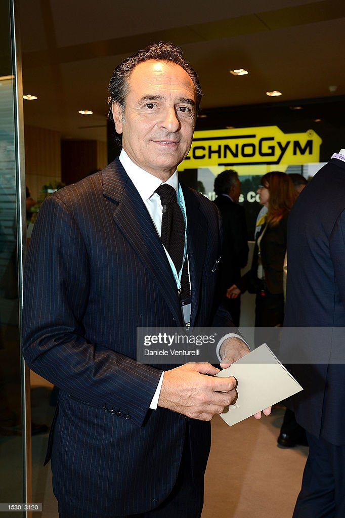 Head coach <a gi-track='captionPersonalityLinkClicked' href=/galleries/search?phrase=Cesare+Prandelli&family=editorial&specificpeople=742442 ng-click='$event.stopPropagation()'>Cesare Prandelli</a> of Italy attends the Technogym Village Opening and Wellness Congress on September 29, 2012 in Cesena, Italy.