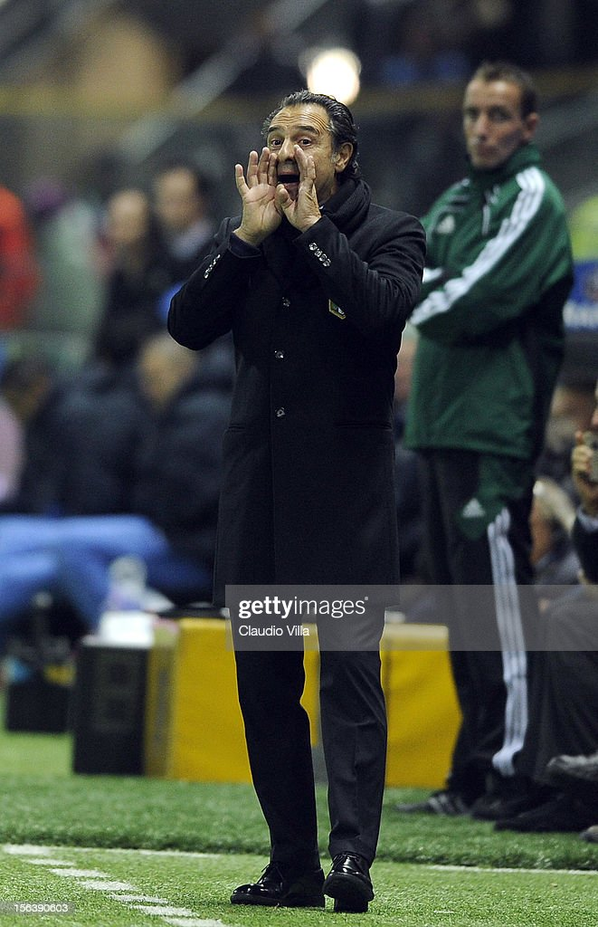 Head coach Cesare Prandelli of Italy during the international friendly match between Italy and France at Stadio Ennio Tardini on November 14, 2012 in Parma, Italy.
