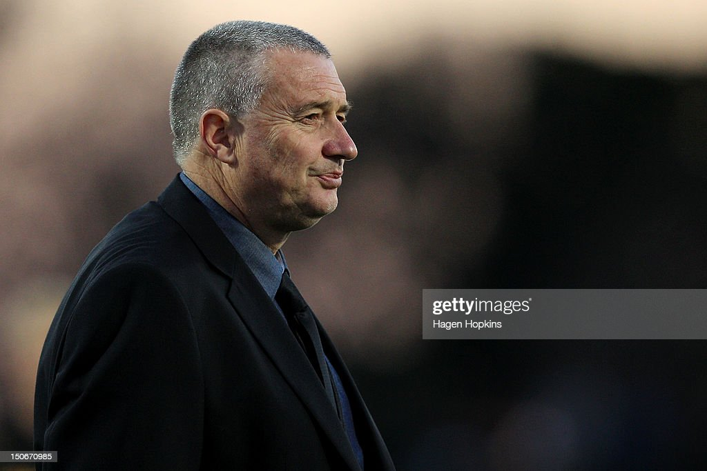 Head coach <a gi-track='captionPersonalityLinkClicked' href=/galleries/search?phrase=Chris+Boyd+-+Rugby+Coach&family=editorial&specificpeople=14741803 ng-click='$event.stopPropagation()'>Chris Boyd</a> of Wellington during the round one ITM Cup match between Manawatu and Wellington at FMG Stadium on August 24, 2012 in Palmerston North, New Zealand.