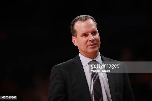 Head coach Chris Collins of the Northwestern Wildcats looks on against the Texas Longhorns in the second half of the 2016 Legends Classic at Barclays...