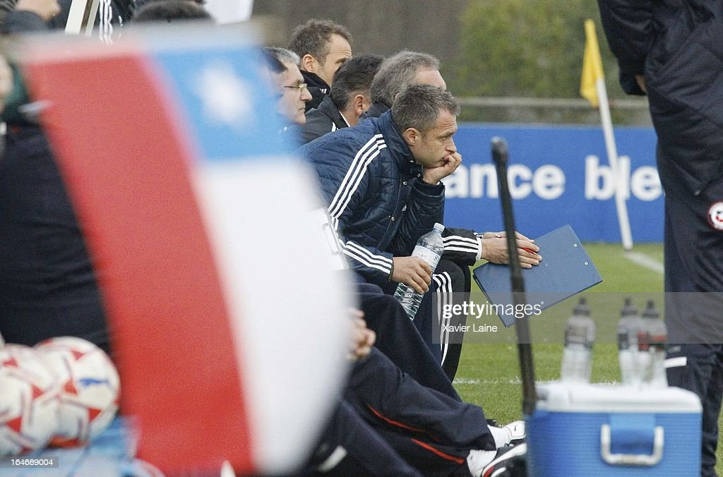 Head Coach Christian Wuck of Germany during the International Friendly match between U16 Germany and U16 Chile on March 26, 2013 in La Roche-sur-Yon, France.