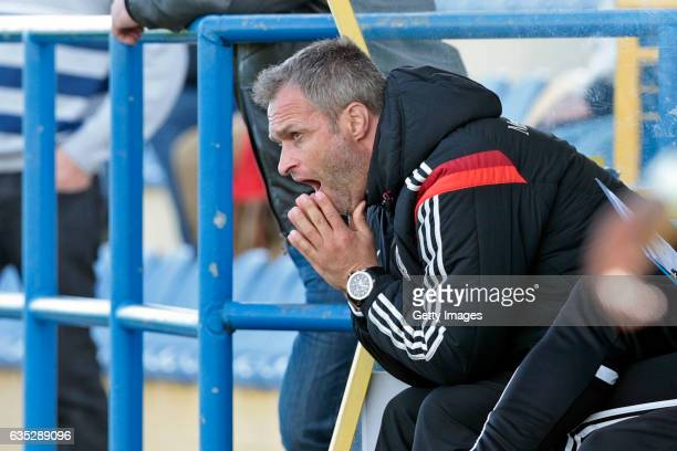 Head coach Christian Wuck of Germany U17 during the U17 Algarve Cup Tournament Match between Portugal U17 and Germany U17 on February 14 2017 in...