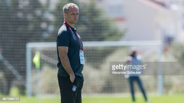 Head coach Christian Wueck of Germany during the UEFA U17 elite round match between Germany and Finland on March 25 2017 in Manavgat Turkey