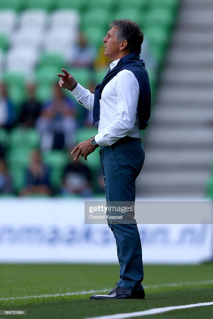 Head coach Claude Puel of Southampton looks on during the friendly match between FC Groningen an FC Southampton at Euroborg Stadium on July 30 2016...