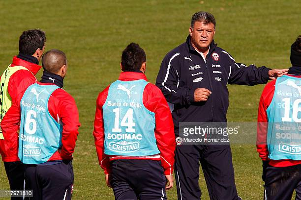 Head coach Claudio Borghi of Chile during a training session for the 2011 Copa America at Talleres stadium on June 02 2011 in Mendoza Argentina