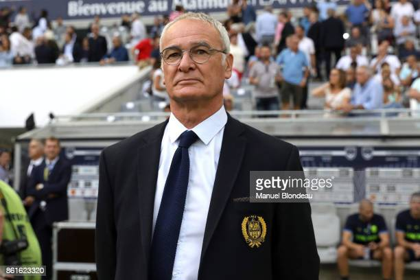 Head coach Claudio Ranieri of Nantes during the Ligue 1 match between FC Girondins de Bordeaux and FC Nantes at Stade Matmut Atlantique on October 15...