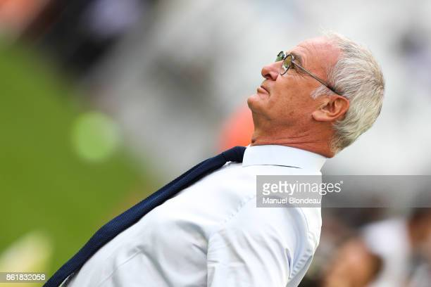 Head coach Claudio Ranieri of Nantes during the Ligue 1 match between FC Girondins de Bordeaux and FC Nantes at Stade Matmut Atlantique on October 14...