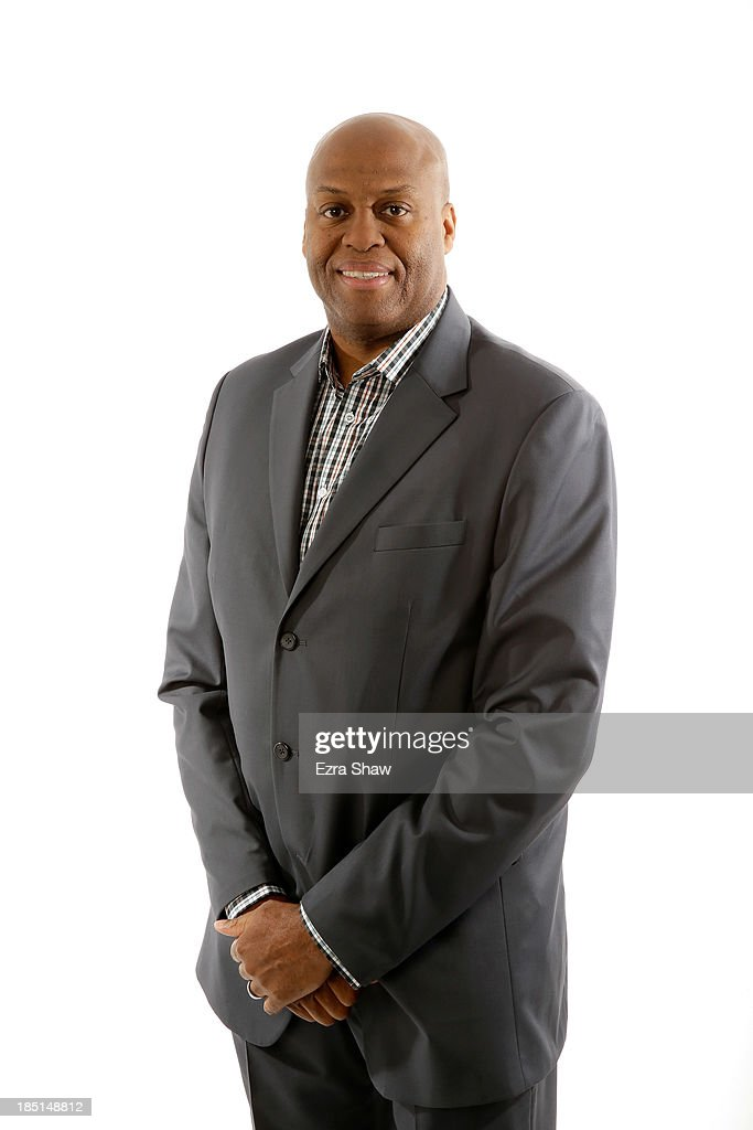 Head coach Craig Robinson of Oregon State poses for a portrait during the PAC12 Men's Basketball Media Day on October 17 2013 in San Francisco...