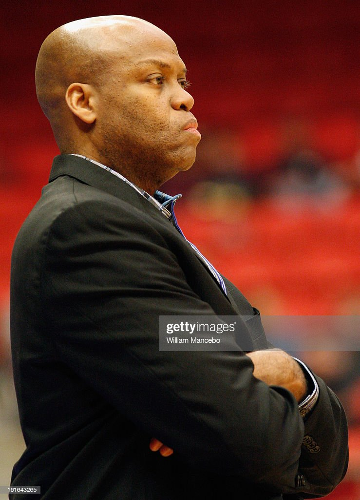 Head coach Craig Robinson of the Oregon State Beavers watches from the sideline during the game against the Washington State Cougars at Beasley...