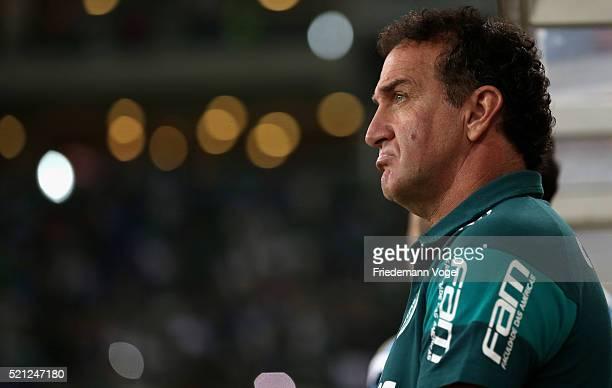 Head coach Cuca of Palmeiras looks on during a match between Palmeiras and River Plate URU as part of Group 2 of Copa Bridgestone Libertadores at...