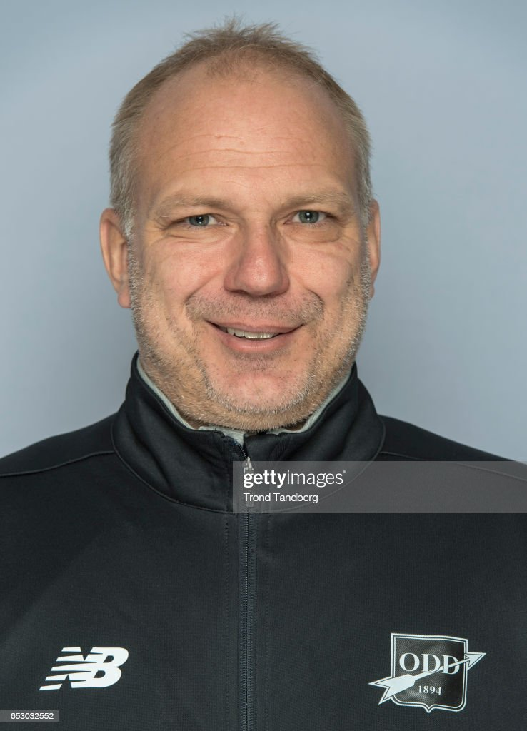 Head Coach Dan Eilev Fagermo of Team Odd BK during Photocall on March 13, 2017 in Skien, Norway.