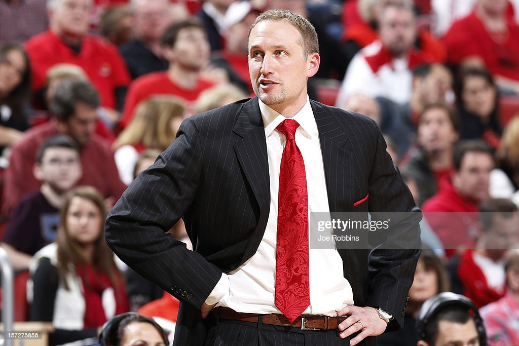 Head coach Dan Muller of the Illinois State Redbirds looks on against the Louisville Cardinals during the game at KFC Yum! Center on December 1, 2012 in Louisville, Kentucky. Louisville won 69-66.