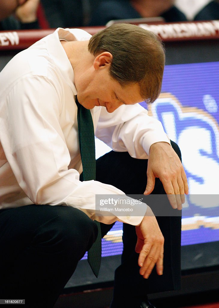 Head coach Dana Altman of the Oregon Ducks reacts from the sideline during the game against the Washington State Cougars at Beasley Coliseum on February 16, 2013 in Pullman, Washington.