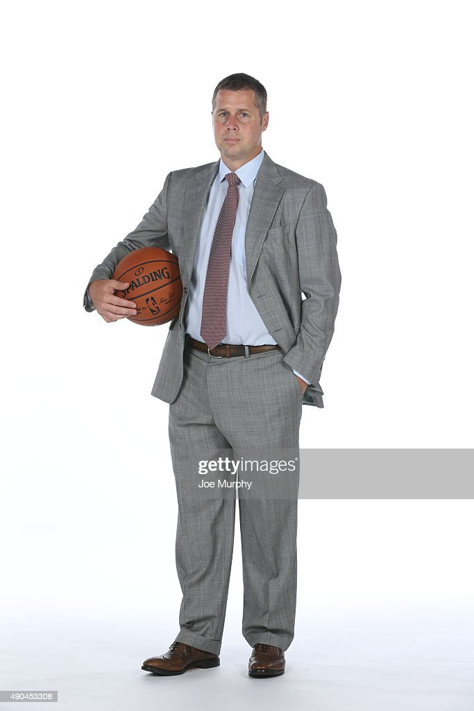 Head Coach Dave Joerger of the Memphis Grizzlies poses for a portrait during their 2015 media day at FedExForum on September 28, 2015 in Memphis, Tennessee.